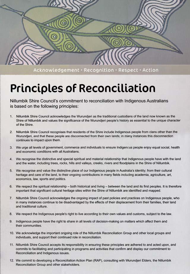 Nillumbik Shire Reconciliation charter